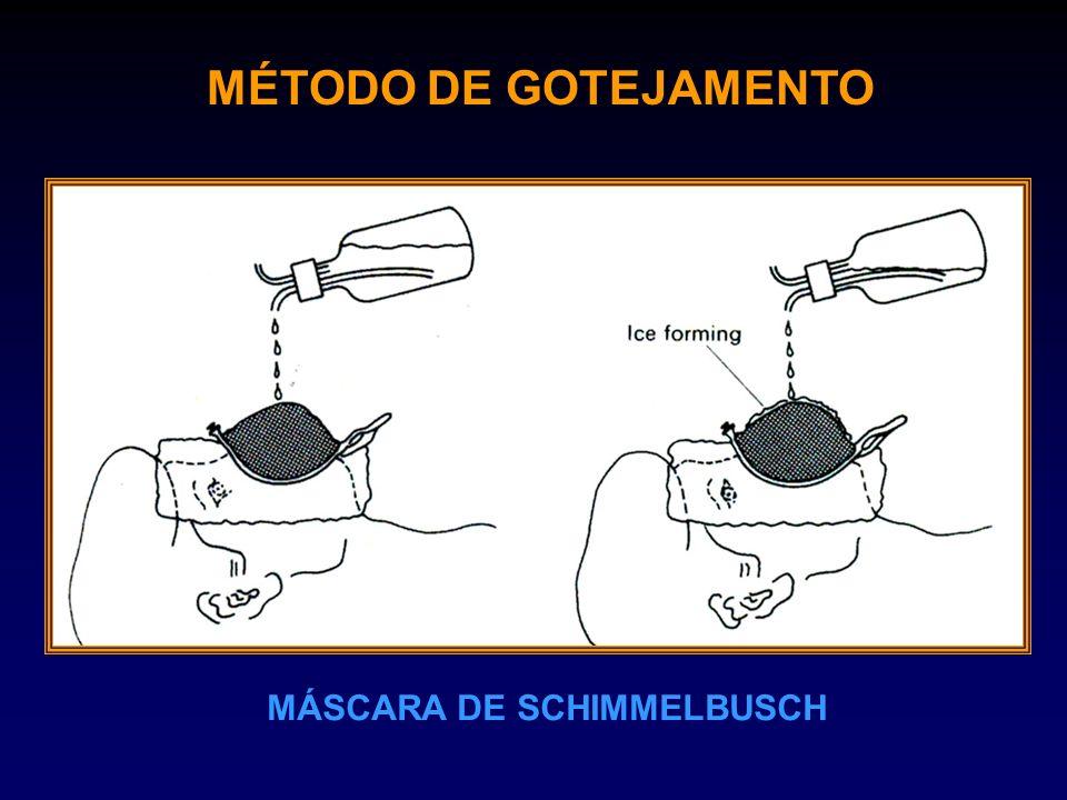 MÉTODO DE GOTEJAMENTO MÁSCARA DE SCHIMMELBUSCH