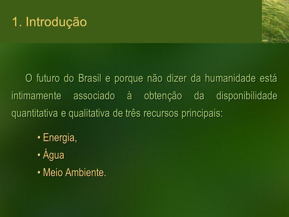O futuro do Brasil e porque não dizer da humanidade está intimamente associado à obtenção da disponibilidade quantitativa e qualitativa de três recurs