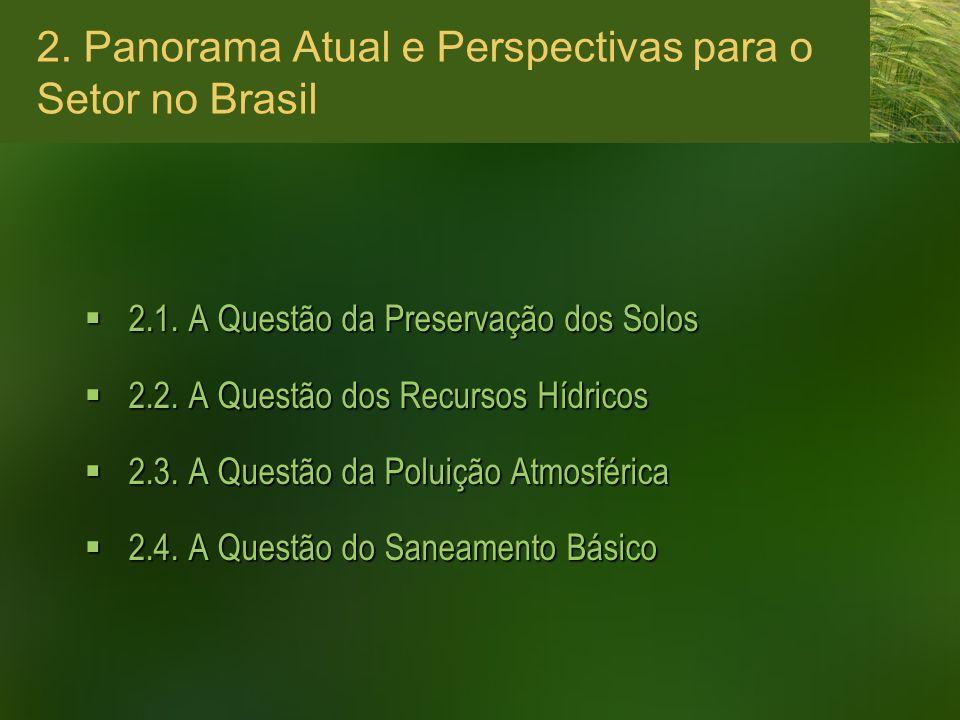 2. Panorama Atual e Perspectivas para o Setor no Brasil 2.1. A Questão da Preservação dos Solos 2.1. A Questão da Preservação dos Solos 2.2. A Questão