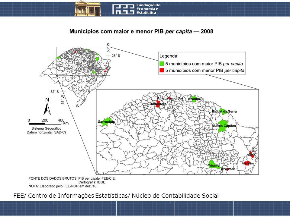 Fundação de Economia e Estatística FEE/ Centro de Informações Estatísticas/ Núcleo de Contabilidade Social