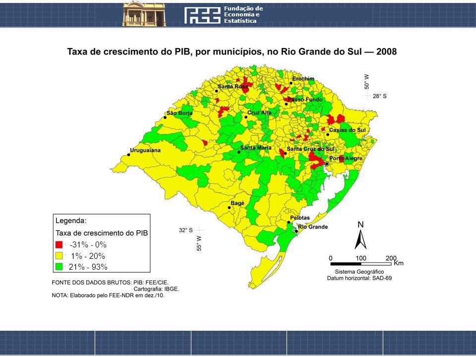 Fundação de Economia e Estatística -31% - 0% 1% - 20% 21% - 93%