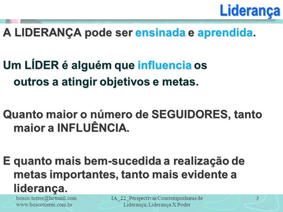 3Liderança A LIDERANÇA pode ser ensinada e aprendida. Um LÍDER é alguém que influencia os outros a atingir objetivos e metas. Quanto maior o número de