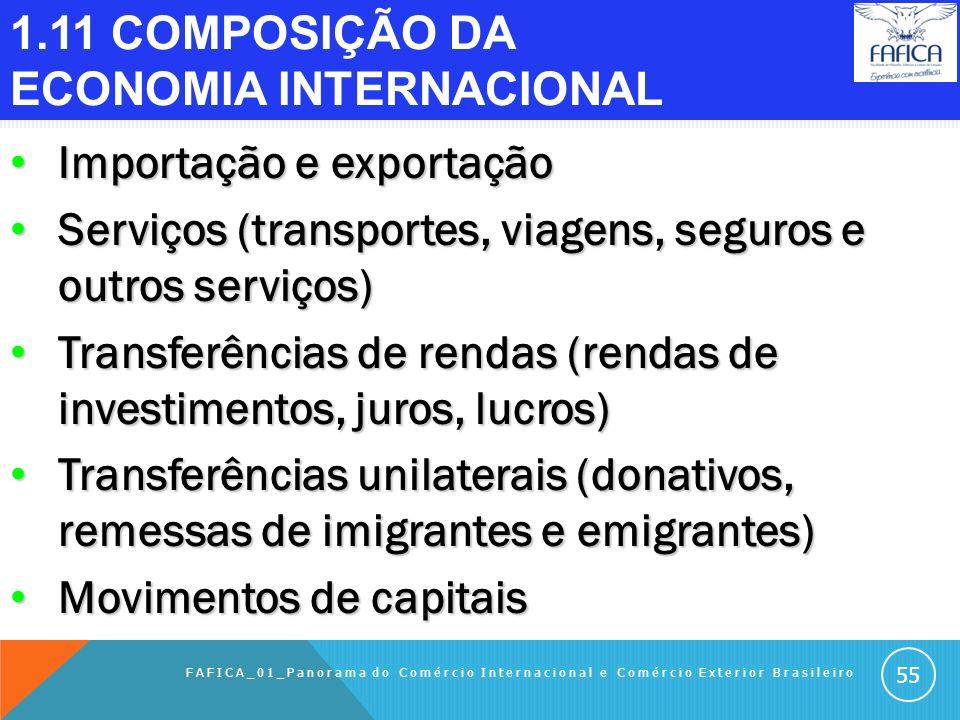 1.10 LEGISLAÇÃO DO SISTEMA BRASILEIRO DE COMEX (continuação) Lei 8.490, de 19/11/1992, revogou a Lei 8.028, e criou o Ministério da Fazenda (http://ww