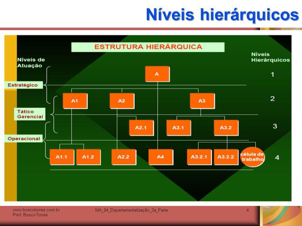 MA_04_Departamentalização_3a_Parte15 Estrutura HORIZONTAL: administração focada no cliente O avanço tecnológico dá ênfase à integração e coordenação baseadas no computador.