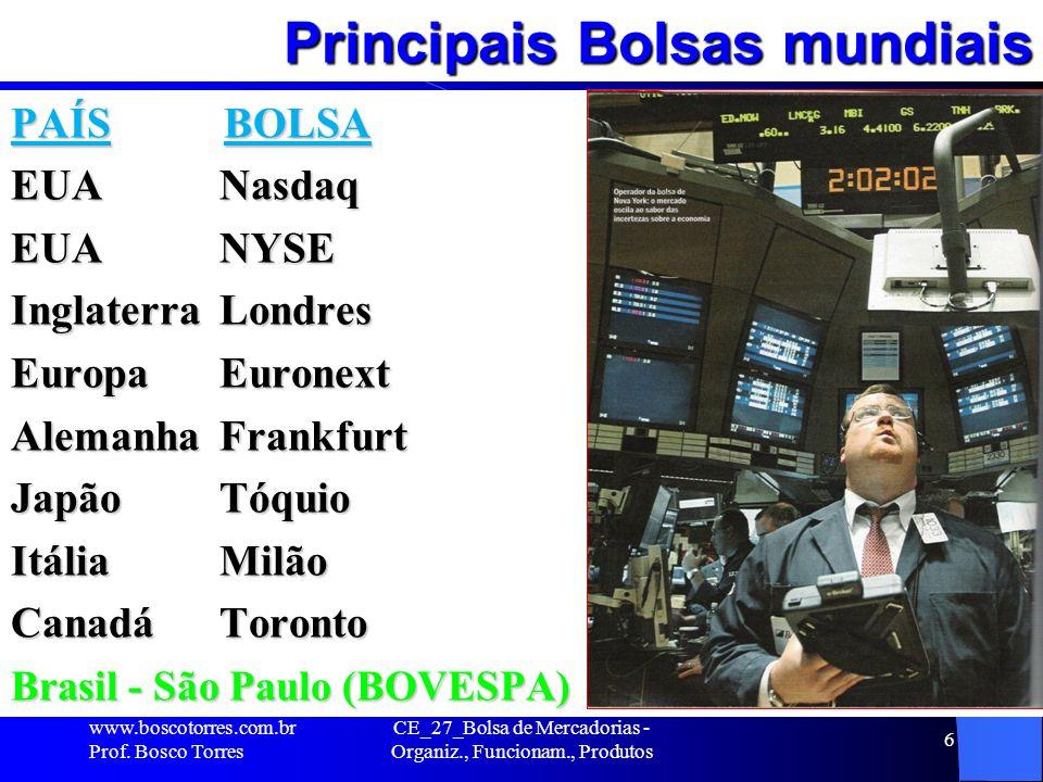 NYSE (Bolsa de Valores de Nova Iorque) A New York Stock Exchange é a mais importante e tradicional bolsa de valores do mundo.