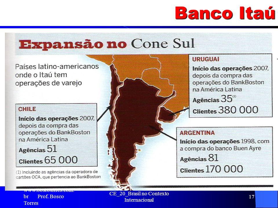 Banco Itaú. www.boscotorres.com. br Prof. Bosco Torres CE_20_Brasil no Contexto Internacional 17