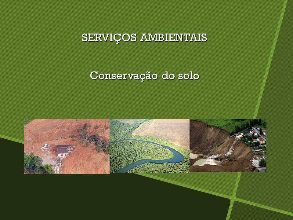 SERVIÇOS AMBIENTAIS Conservação da água