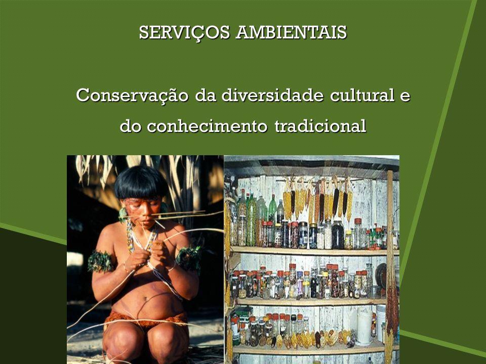 SERVIÇOS AMBIENTAIS Conservação da diversidade cultural e do conhecimento tradicional