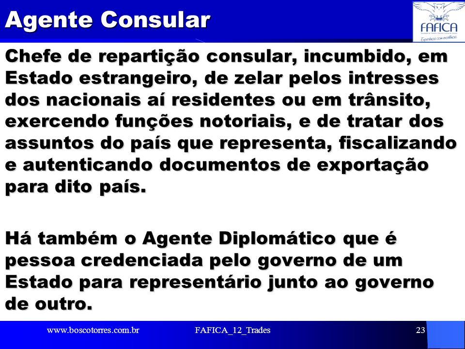 Agente Consular Chefe de repartição consular, incumbido, em Estado estrangeiro, de zelar pelos intresses dos nacionais aí residentes ou em trânsito, e