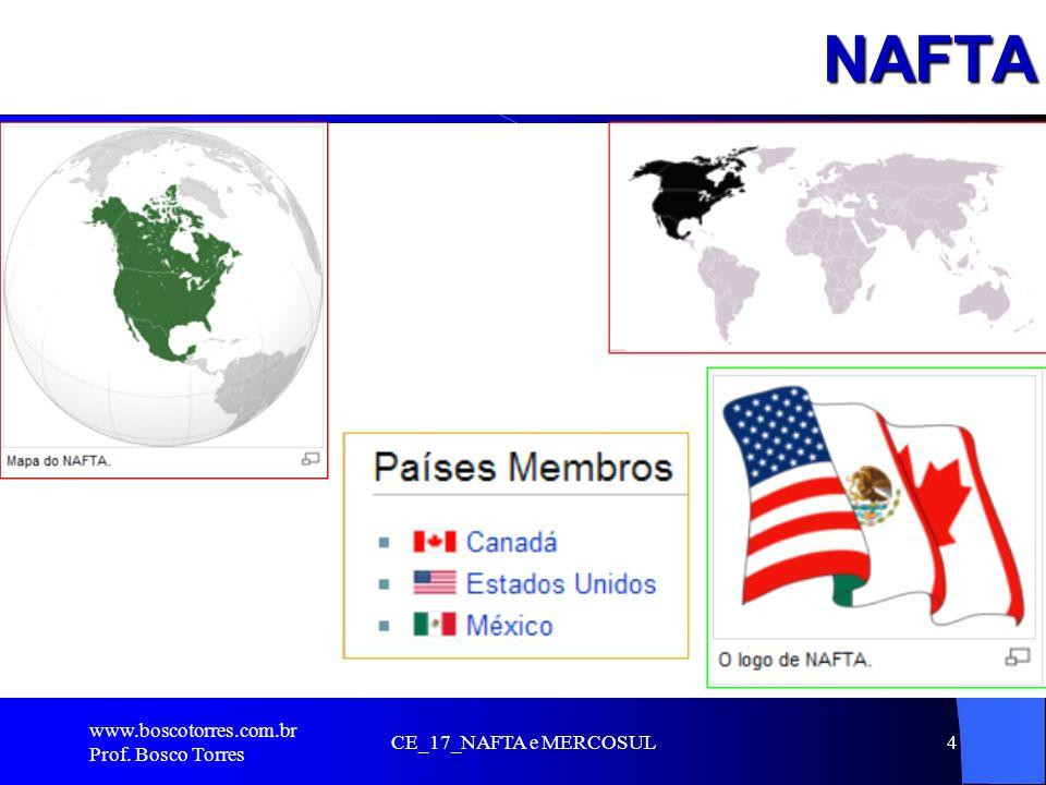 NAFTA.. www.boscotorres.com.br Prof. Bosco Torres CE_17_NAFTA e MERCOSUL4