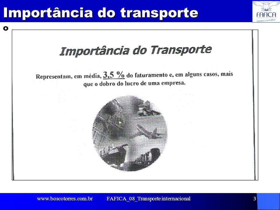 FAFICA_08_Transporte internacional4 Utilização dos modais. www.boscotorres.com.br