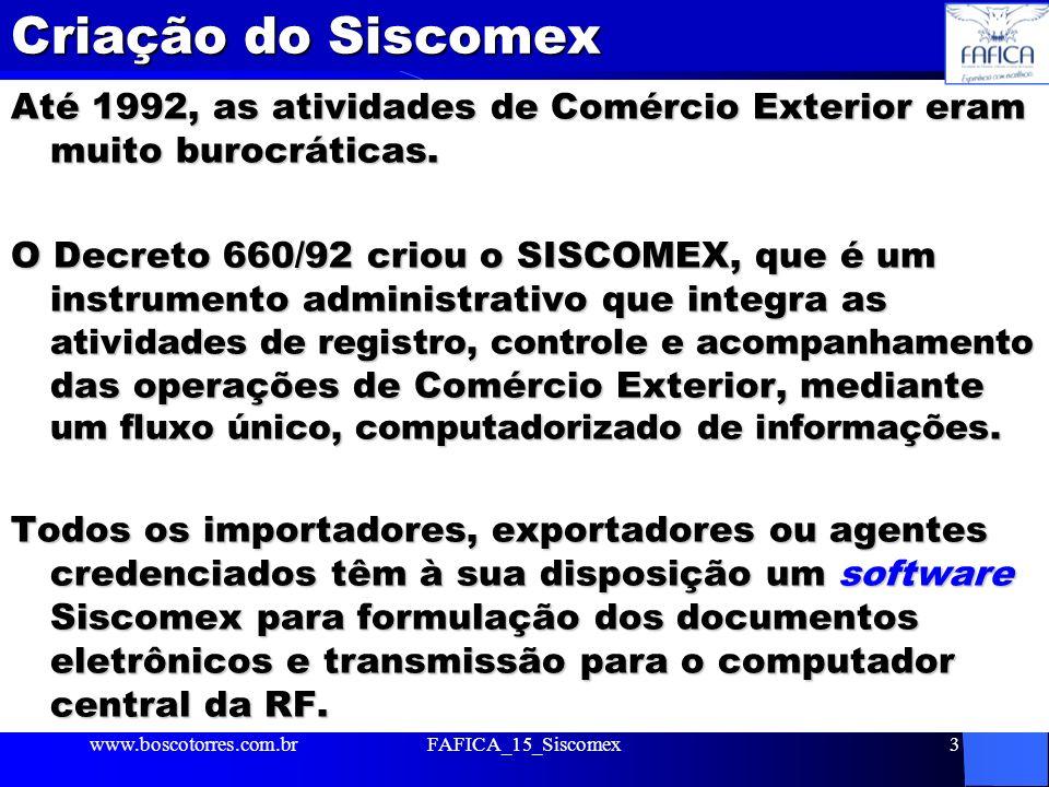 Acesso ao Siscomex O acesso ao Siscomex é permitido ao usuário devidamente habilitado, observadas as normas específicas de segurança: identificação do usuário, o local e o horário de acesso; identificação do usuário, o local e o horário de acesso; Preservação da integridade dos dados relativos a transações e rotinas realizadas no sistema.