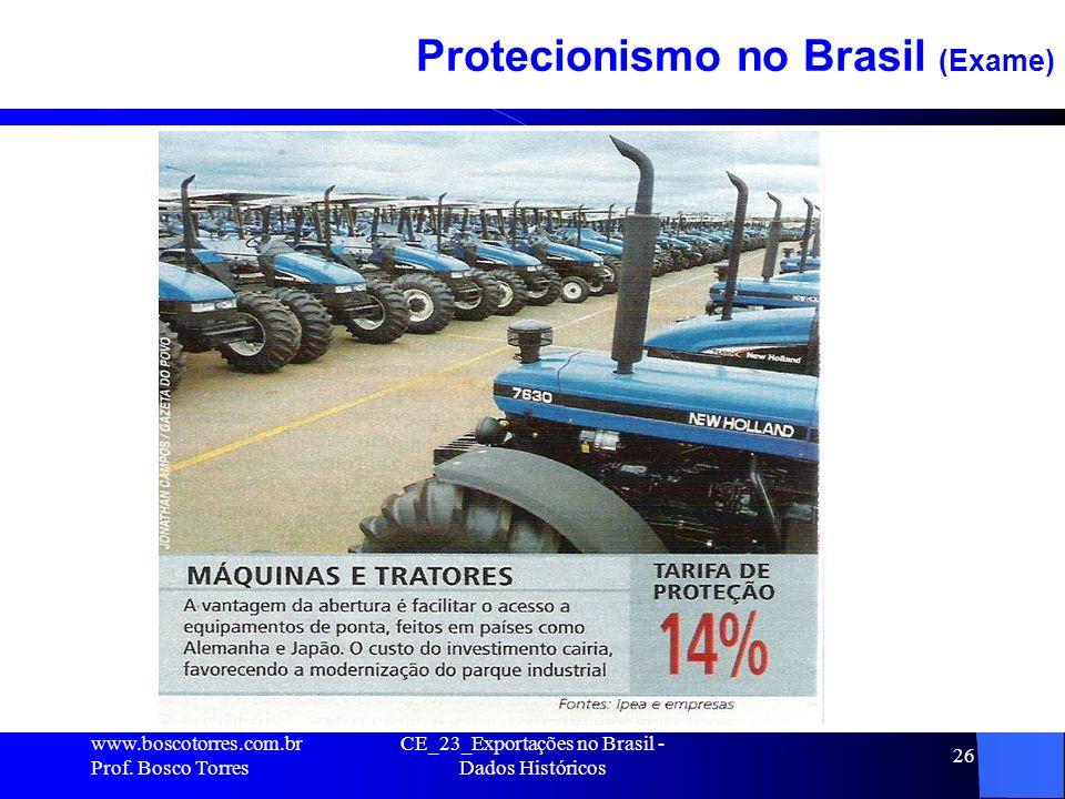 CE_23_Exportações no Brasil - Dados Históricos 26 Protecionismo no Brasil (Exame).