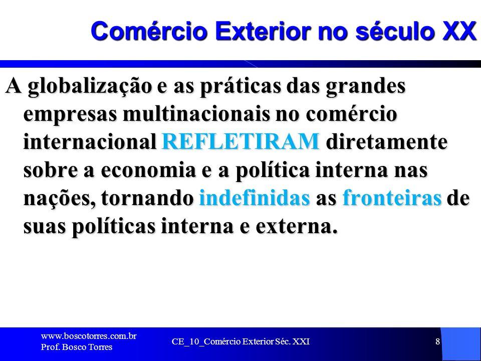 CE_10_Comércio Exterior Séc. XXI8 Comércio Exterior no século XX A globalização e as práticas das grandes empresas multinacionais no comércio internac
