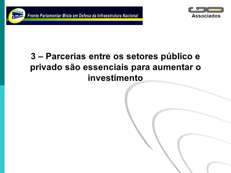 Associados 3 – Parcerias entre os setores público e privado são essenciais para aumentar o investimento