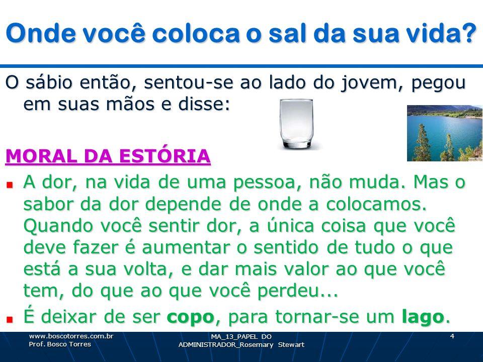5 Processo DECISÓRIO Processo DECISÓRIO. www.boscotorres.com.br Prof. Bosco Torres