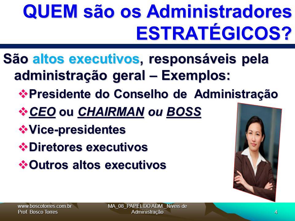 MA_08_PAPEL DO ADM._Níveis de Administração4 QUEM são os Administradores ESTRATÉGICOS.