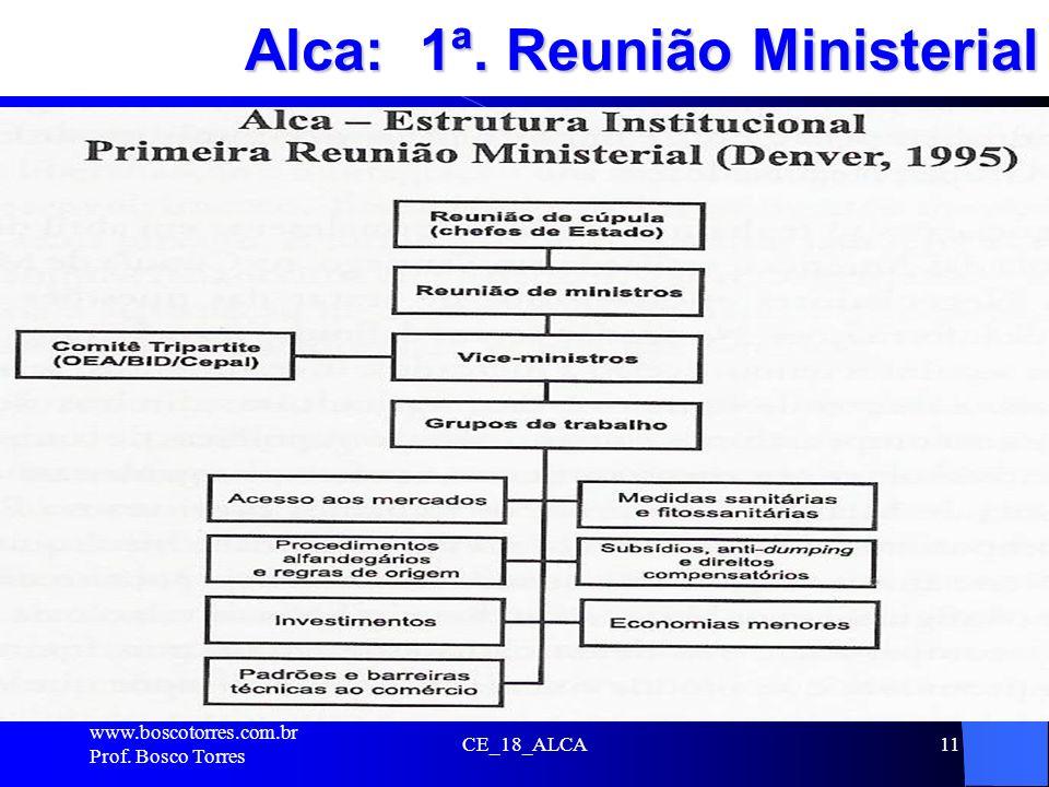 CE_18_ALCA11 Alca: 1ª. Reunião Ministerial. www.boscotorres.com.br Prof. Bosco Torres