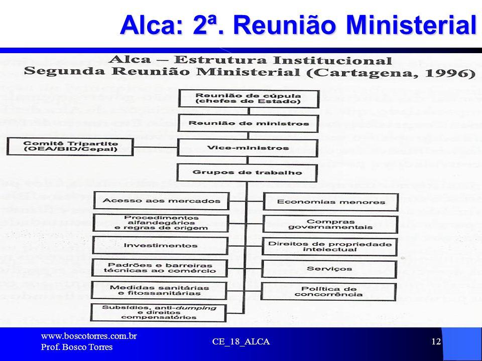 CE_18_ALCA12 Alca: 2ª. Reunião Ministerial. www.boscotorres.com.br Prof. Bosco Torres