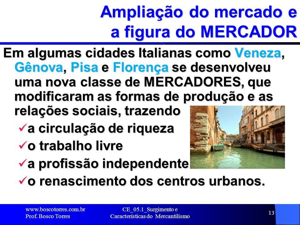 CE_05.1_Surgimento e Características do Mercantilismo 14 O papel do MERCADOR A partir do século XIII (1200), o mercador ressurge no cenário europeu por toda parte, exibindo artigos de luxo.