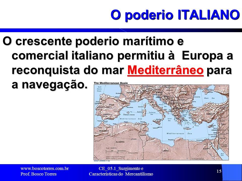 CE_05.1_Surgimento e Características do Mercantilismo 16 Ampliação do mercado e a figura do MERCADOR O capitalismo italiano tinha sucursais e caixeiros-viajantes em toda parte.