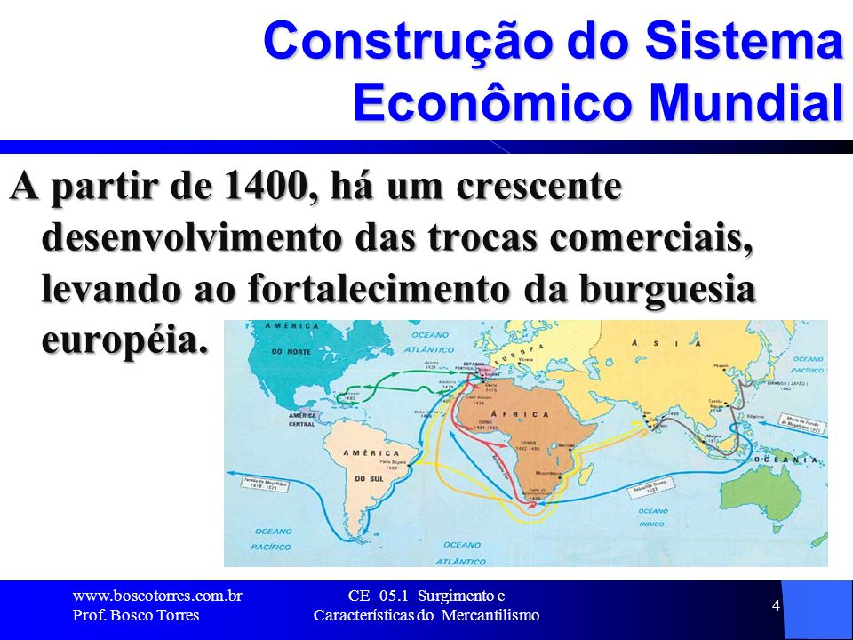 Fortalecimento da burguesia européia O fortalecimento da burguesia européia se deu com as grandes navegações e com a abertura de uma rota comercial pelo Atlântico Sul rumo ao Oriente.