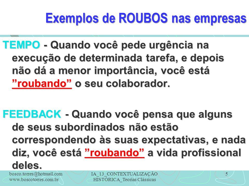 Exemplos de ROUBOS nas empresas TEMPO - Quando você pede urgência na execução de determinada tarefa, e depois não dá a menor importância, você está ro