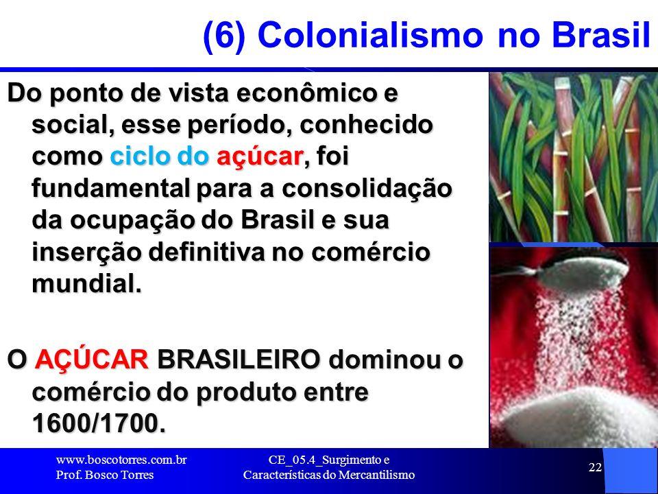 CE_05.4_Surgimento e Características do Mercantilismo 22 (6) Colonialismo no Brasil Do ponto de vista econômico e social, esse período, conhecido como