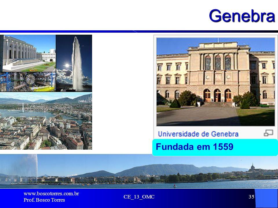Genebra. CE_13_OMC35 Fundada em 1559