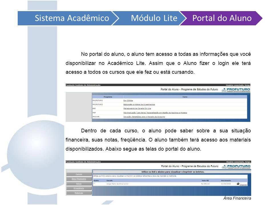 Sistema AcadêmicoMódulo LitePortal do Aluno