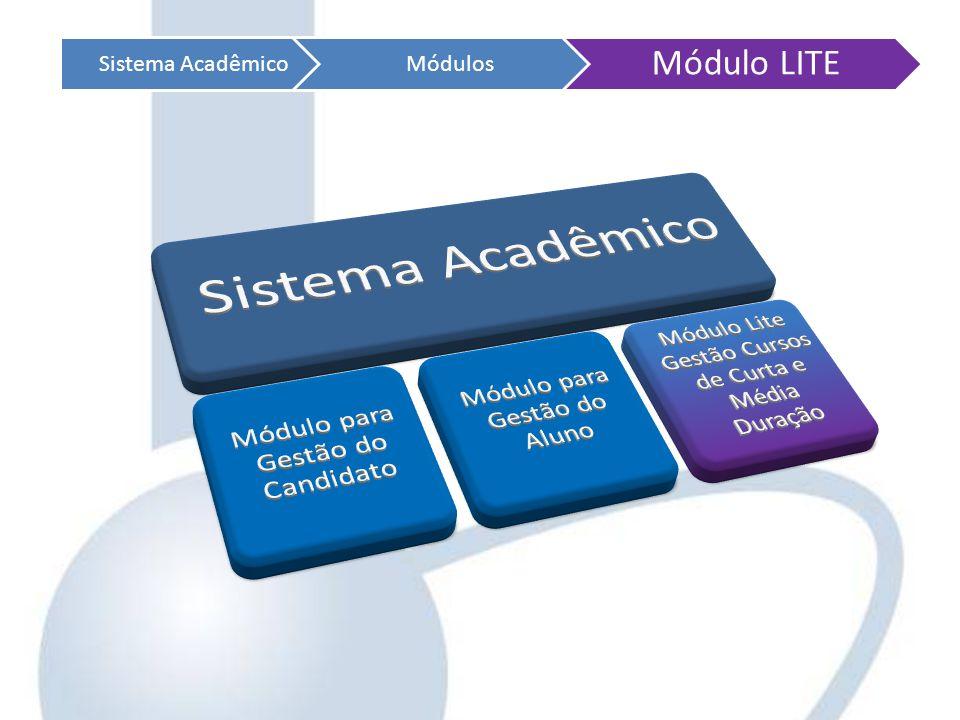 Sistema AcadêmicoMódulos Módulo LITE