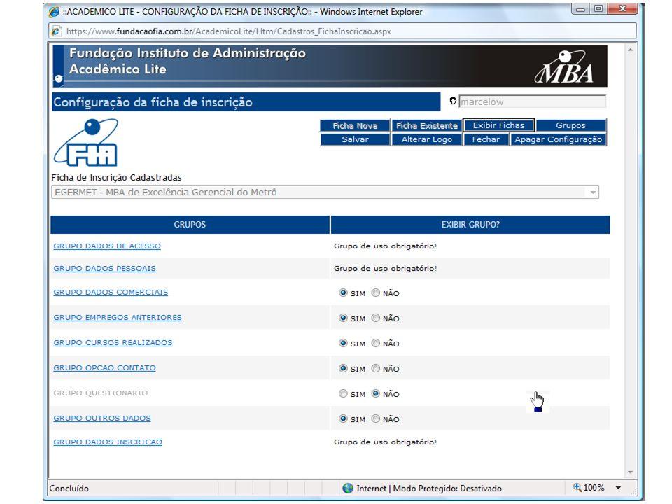 Sistema AcadêmicoMódulo LiteFicha de Inscrição