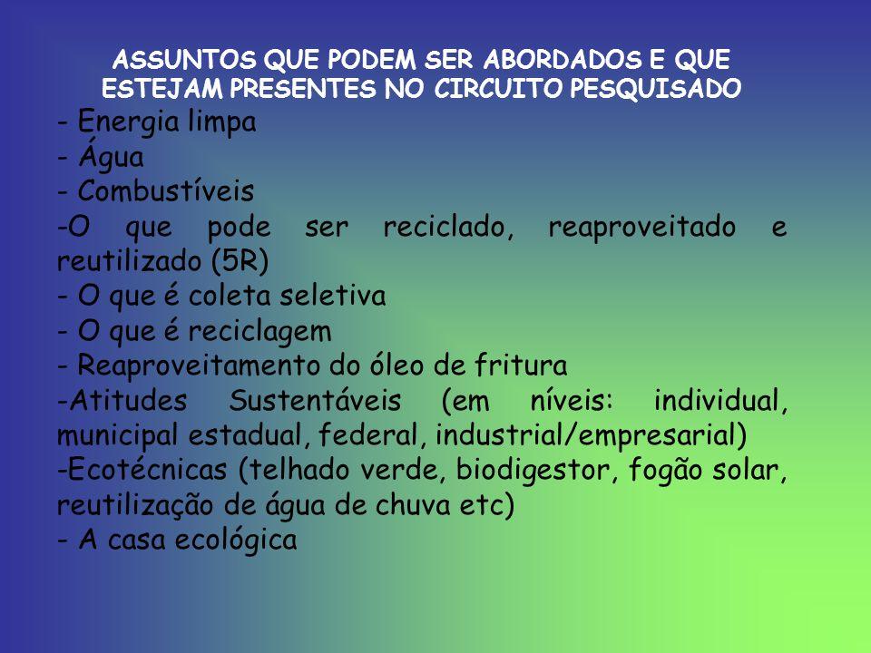 FONTES: www.estradareal.org.br www.planetasutentável.com.br www.sustentabilidade.org.br www.circuitodoouro.tur.br www.consultoriaambiental.com.br www.sustentabilidade.atarde.com.br www.ecologiaurbana.com.br Instituto Estrada Real – informação detalhada de cada cidade da Estrada Real