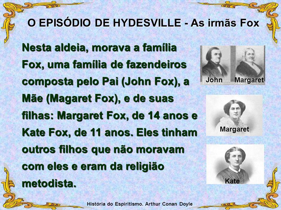 Nesta aldeia, morava a família Fox, uma família de fazendeiros composta pelo Pai (John Fox), a Mãe (Magaret Fox), e de suas filhas: Margaret Fox, de 1