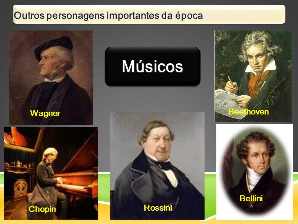 Outros personagens importantes da época Wagner Beethoven Chopin Rossini Bellini MúsicosMúsicos