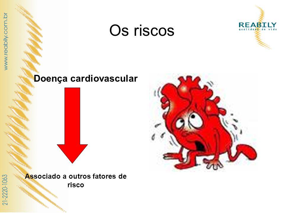 Os riscos Doença cardiovascular Associado a outros fatores de risco