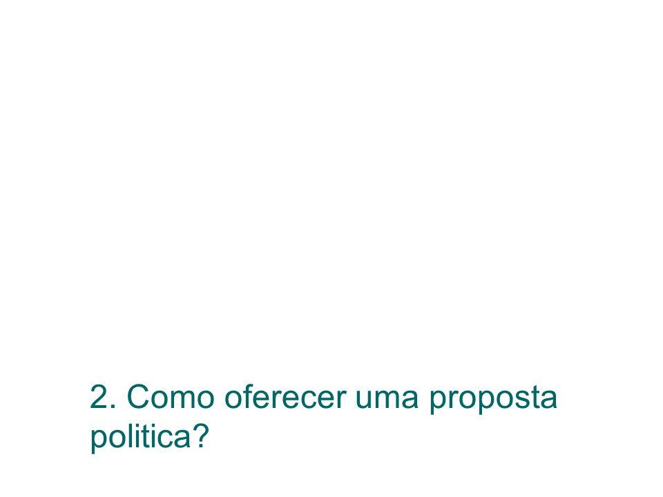 2. Como oferecer uma proposta politica?