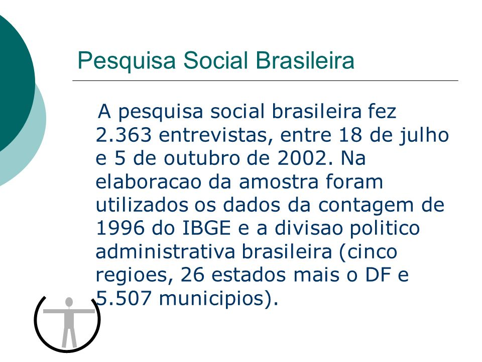 O Perfil de Escolaridade da Populacao Brasileira Fonte: PESB FrequenciaPercentual Analfabetos2089 Ate 4-serie59925 Da 5 a 8 serie53623 Ensino medio73531 Superior28612 Total2.363100