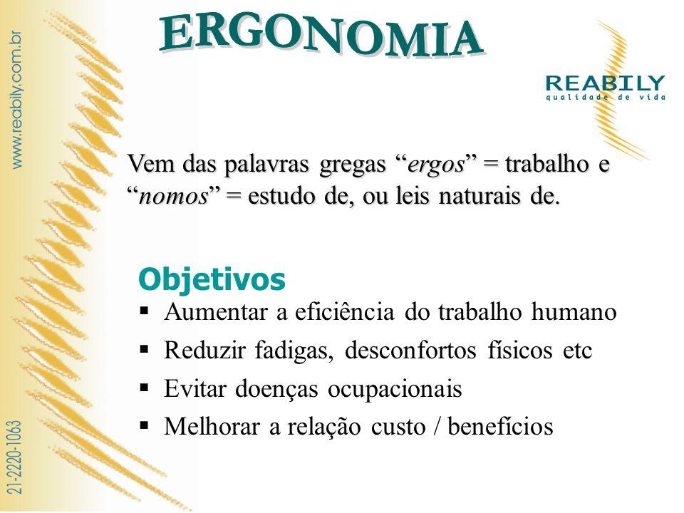 Os três fatores básicos NR 17: ERGONOMIA Esta Norma Regulamentadora visa a estabelecer parâmetros que permitam a adaptação das condições de trabalho às características psicofisiológicas dos trabalhadores, de modo a proporcionar um máximo de conforto, segurança e desempenho eficiente.