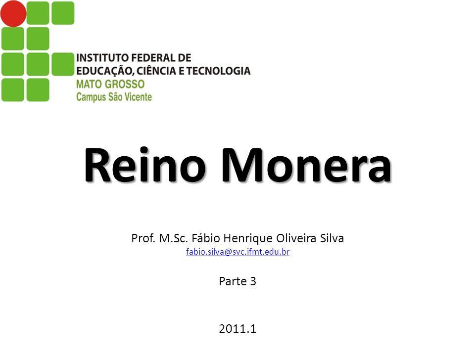 Reino Monera Reino Monera Prof. M.Sc. Fábio Henrique Oliveira Silva fabio.silva@svc.ifmt.edu.br Parte 3 2011.1 fabio.silva@svc.ifmt.edu.br