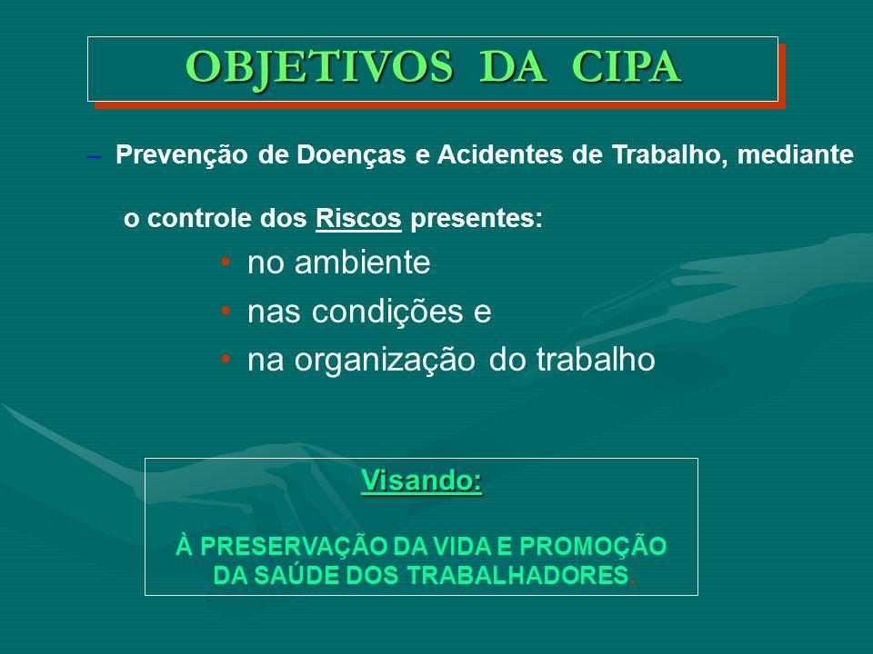 CIPA C OMISSÃO I NTERNA DE P REVENÇÃO DE A CIDENTES REGULAMENTAÇÃO: Criada pelo Decreto-Lei 5.432, de 01/05/1943.