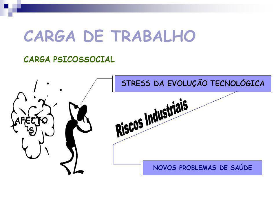 CARGA DE TRABALHO CARGA PSICOSSOCIAL AFECTO S STRESS DOS QUADROS E DIRIGENTES ANSIEDADE E DEPRESSÃO