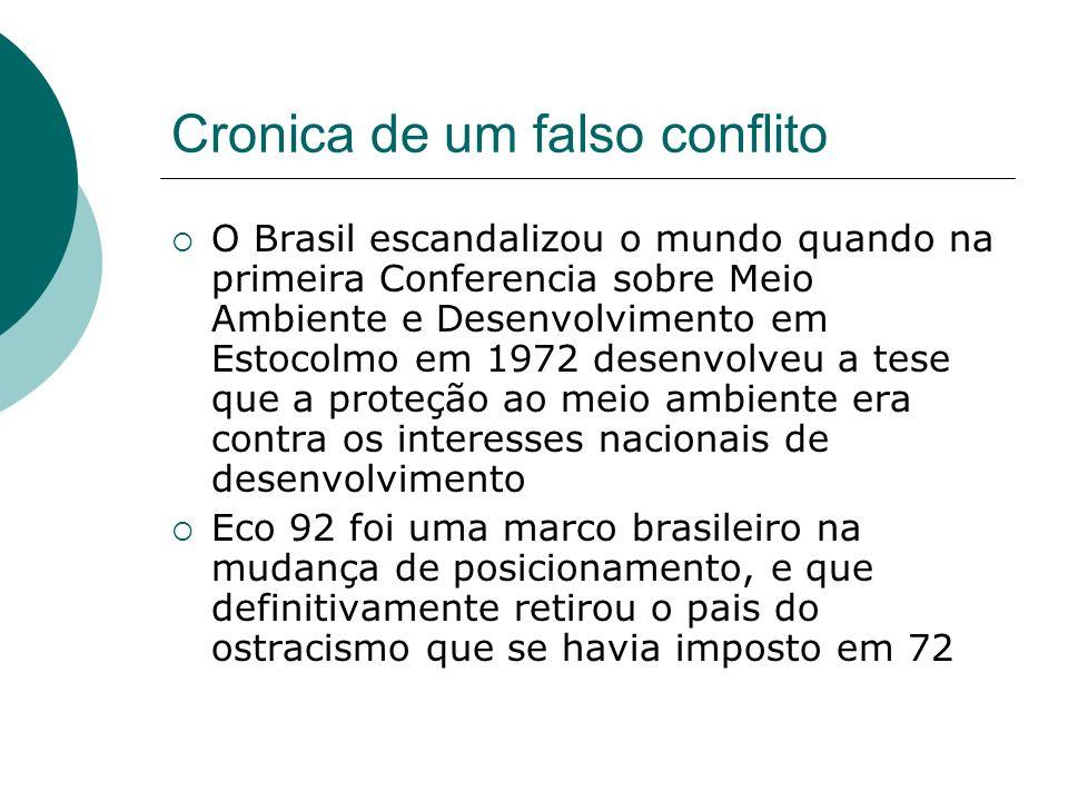 Cronica de um falso conflito O Brasil escandalizou o mundo quando na primeira Conferencia sobre Meio Ambiente e Desenvolvimento em Estocolmo em 1972 d