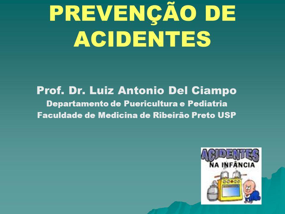 PREVENÇÃO DE ACIDENTES Prof. Dr. Luiz Antonio Del Ciampo Departamento de Puericultura e Pediatria Faculdade de Medicina de Ribeirão Preto USP