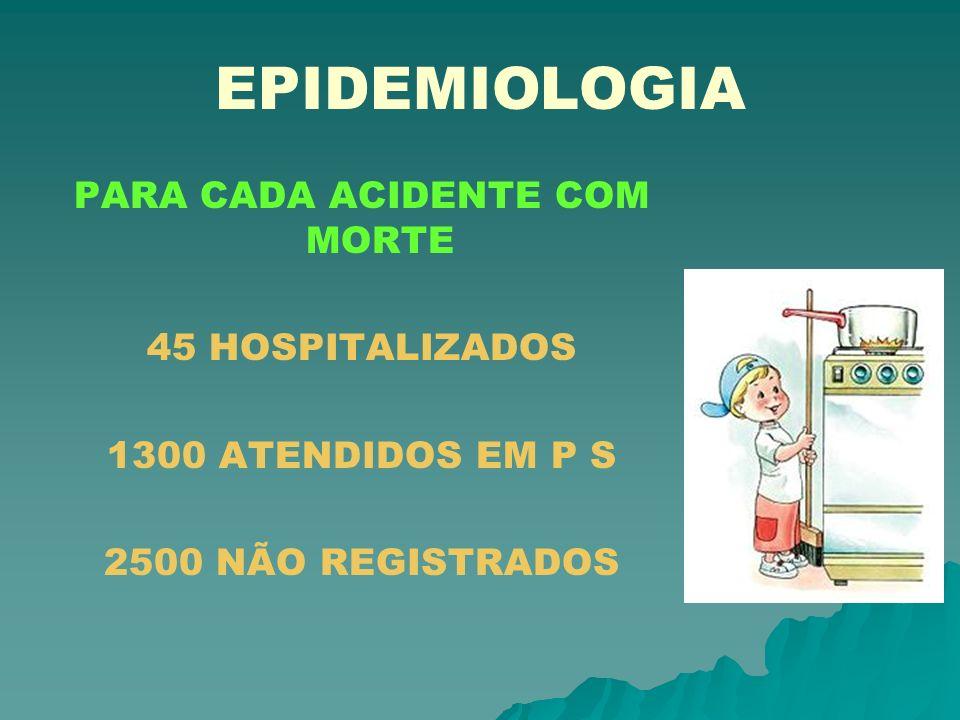 PARA CADA ACIDENTE COM MORTE 45 HOSPITALIZADOS 1300 ATENDIDOS EM P S 2500 NÃO REGISTRADOS
