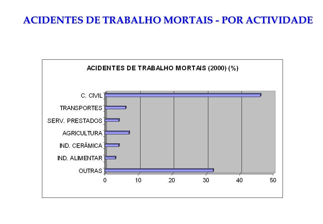 ACIDENTES DE TRABALHO MORTAIS - POR ACTIVIDADE