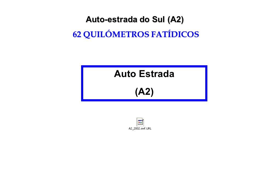 Auto-estrada do Sul (A2) 62 QUILÓMETROS FATÍDICOS Auto Estrada (A2)