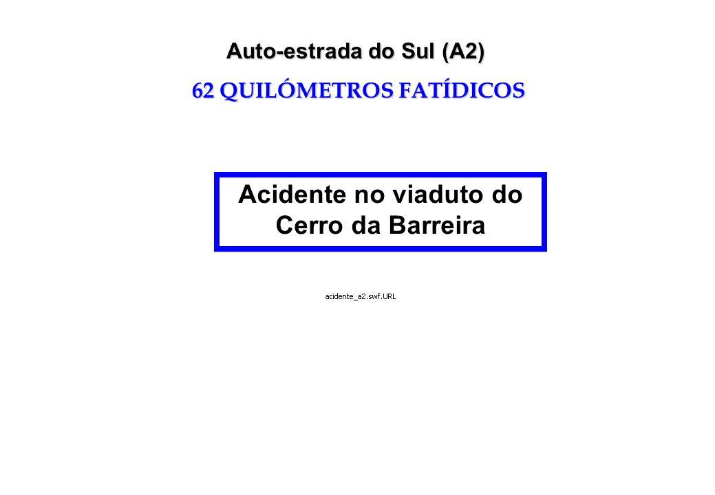 Auto-estrada do Sul (A2) 62 QUILÓMETROS FATÍDICOS Acidente no viaduto do Cerro da Barreira