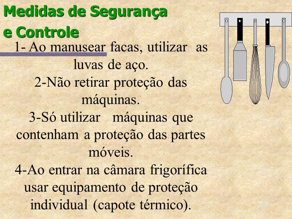 25 SEGURANÇA: Procedimento CORRETO.A luva de proteção também e necessária ao cortar legumes.