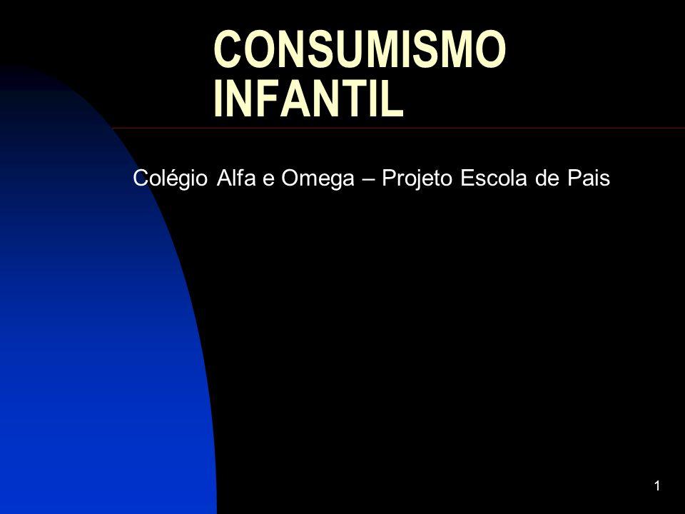 1 CONSUMISMO INFANTIL Colégio Alfa e Omega – Projeto Escola de Pais